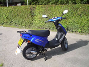 One of the 90-ONE mopeds used in the practical sections