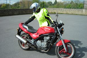 Manual handling of a bigger bike on a big bike refresher course